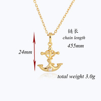 New Exquisite Gold Plated Crystal Azorite Latin Cross Prom Party Wedding Necklace Pendant For Gift D0422