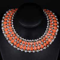 New Arrival Fashion Exaggerate Resin stone Rhinestone Necklace Set For Women FREE SHIPPING Nickel Free