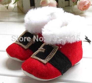 nobre francês vermelho + cor preta feminino algodão sapatas de bebê toddler algodão meninas meninas sapatos botas transporte livre(China (Mainland))