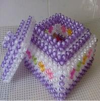 Diy handmade acrylic beaded crafts handmade finished beads watermelon white&purple jewelry container