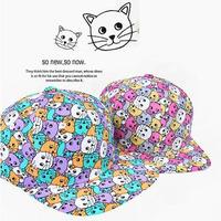 2014 Adjustable Cat pattern print Snapback hats  Hip Hop Sport Snapback Baseball caps men & women's designer Freeshipping M101