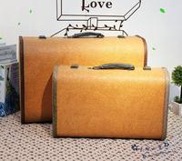Fashion Vintage  Wooden travel  suitcase bag luggage wooden case  storage box