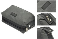 Fashion Portable Unisex High-end Simple Grain  Wash Zipper Bag Storage Bag