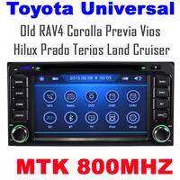 Car DVD for Toyota RAV4 COROLLA Previa VIOS HILUX Prado Terios Land Cruiser with CPU MTK3360 800MHZ Dual Core