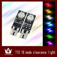 New Design 2pcs T10 LED Clearance Lights  Hyundai  Toyota VW   for Toyota Clearance Lights RGB 18 Mode  ,Free shipping