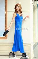 Cool! New! 2014 new arrival Summer dress, Korean style slim fit sleeveless all match bottoming chiffon women long dress