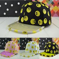2014 Adjustable Smile faces print snapbacks hats  Hip Hop Sport Snapback Baseball caps men & women's designer Freeshipping M105