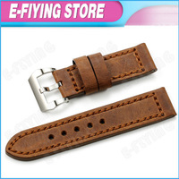 Vintage Genuine Leather Big Watch Band Strap 24mm Watchband for PANERAI 44mm Brown Distressed Bracelet for BREITLING LUMINOX