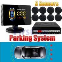 Parktronic LCD Car Reverse Radar Rearview 8 Parking Sensor BackUp Alarm System Radar Car accessories auto Assistance System