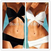 Crazy promotion beach bikini sexy bandage push up bandeau swimwear women 2014 swimsuit the bathing suit beachwear  FT003