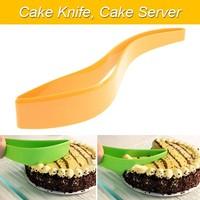 Brand New Free Shipping Cake Knife, Cake Server (Yellow)