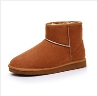 2014 fashion warm women flats snow boots and autumn winter women shoes