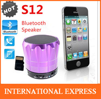 S12 Bluetooth Speaker Mini Wireless Speaker with Mic Support TF Card Free  Shipping