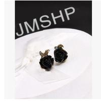 Black Rose New Hot Selling  Alloy Romantic Trendy Vintage Mental Women's Stud Earrings R-071