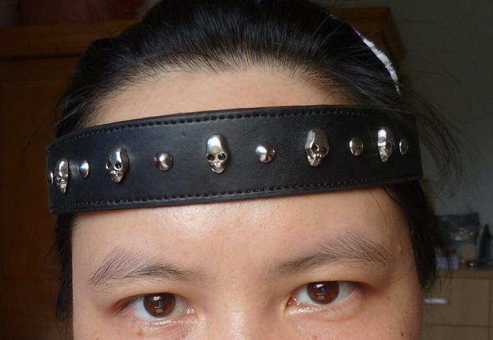 Новый дизайн моды панк череп кожаные