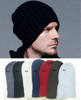 7 Colors! New 2014 Neon Knitted Gorro Touca Men Winter Hat Autumn Sport Beanie Men Warm skullies Casual Cap Drop Shipping
