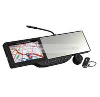"5"" LCD Bluetooth headset Car DVR Camera with GPS navigation + 7IR night +FM+MP4 +Car Rearview Mirror Camera LS518"