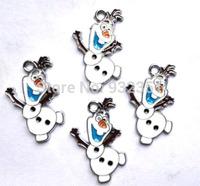 New Arrival 100 Pcs Frozen  Olaf Metal Charms Jewelry Making Pendants Earrings