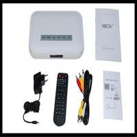2014 Real Media Center free Shipping 50pcs/lot By Dhl Nbox Rmvb Rm Mp3 Avi Mpeg Divx Hdd Tv Usb for Sd Card Media Player Remote
