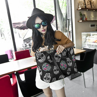 Fashion skull 2014 women's print fashion handbag all-match female bags large shoulder bag