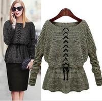 new 2014 Fashion warm winter pullover women sweater women Vintage Knitwear Long sleeve o-neck wool  sweaters 9988 free shipping