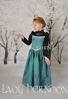 FROZEN Anna Dress Girls long-sleeved dress FROZEN Princess Anna Dress for 2-7ages