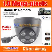 Free shipping 1Megapixel(1280*720)  720P HD Network IR CUT IP Camera P2P Plug and Play Onvif 4pcs Array LEDs IR Night Vision