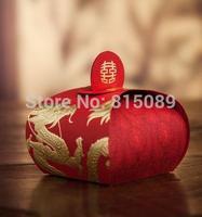 Chinese Style Wedding Candy Box Lantern Gift Bag Wedding Favor Holders Souvenir Bag Dragon and Phoenix Free Shipping
