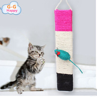 Three-color cat scratch board pet toy band multicolour small mouse decoration wall toy  free shipping+gifts