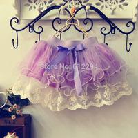 Tutu skirt 2014 summer toddler tutu ballet skirts / fashion skirts lace baby tutu skirt faldas tutus pink purple Free shipping