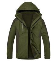 2014 New High Quality Outdoor Brand Men's 2in1 Windbreaker Ski Climbing Jacket 10pcs/lot