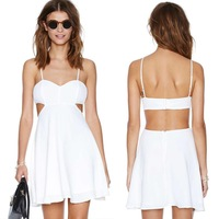 plus size sexy white club dresses Sweetheart spaghetti strap adjustable bra tube top high waist chiffon sexy white club dresses