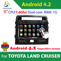 2 din Pure Android 4.2 Car DVD player For Toyota Land Cruiser with WIFI 3G GPS USB Bluetooth Capacitive screen Car radio stereo