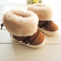 Warm Baby Boys Shoes Fashion Bebe Snow Boots Rubber Soft Bandage Thicken Baby Ankle Boots For Children Toddler Shoes