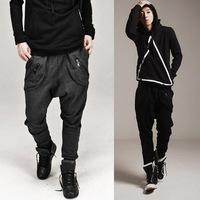 2014 new Mens Harem Pants Hip Hop thermal Sports Pants Men's Fitness Baggy Jogging Trousers academia calca moletom masculina