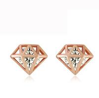 Free shipping 2014 sparkling diamond elegant diamond earring sparkling diamond stud earring accessories