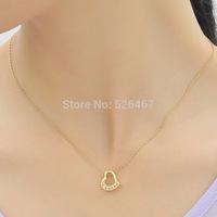 Free shipping 2014 luxury jewelry wholesale !Fashion crystal pendant necklace female short design chain