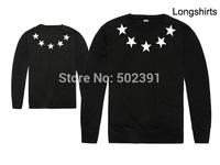 Free Shipping givency new thin shirts cotton men's clothing classic long sleeve O-Neck brand GIV men Sweatshirts