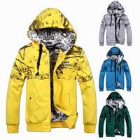 Men's hooded sweater autumn men sport sweatshirts cardigan jacket plus size L-4XL