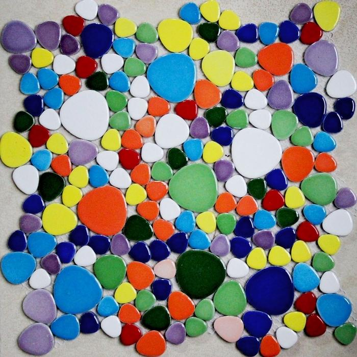 kleuren kiezel keramische tegels voor badkamer douche vloertegels ...