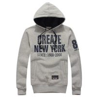 2014 autumn/winter fashion simple men's hooded  Loose printing  NEW YORK sport  SweatshirtsY0291