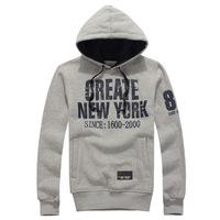 2014 autumn/winter fashion simple men's hooded  Loose printing  NEW YORK sport  SweatshirtsY0291