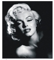 Movie Marilyn Monroe Vintage Black White Photos Home Decoration 100% Hand Painted Oil Painting on Canvas Modern Wall Art quadro