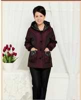 Women's clothing jackets coats middle-aged mother coat Add fertilizer to increase in the elderly  Spring and Autumn Outerwear 52
