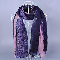 ladies shawls viscose long popular stripe fashion flower wrap muslim hijab head plain wrap scarf/scarves10pcs/lot