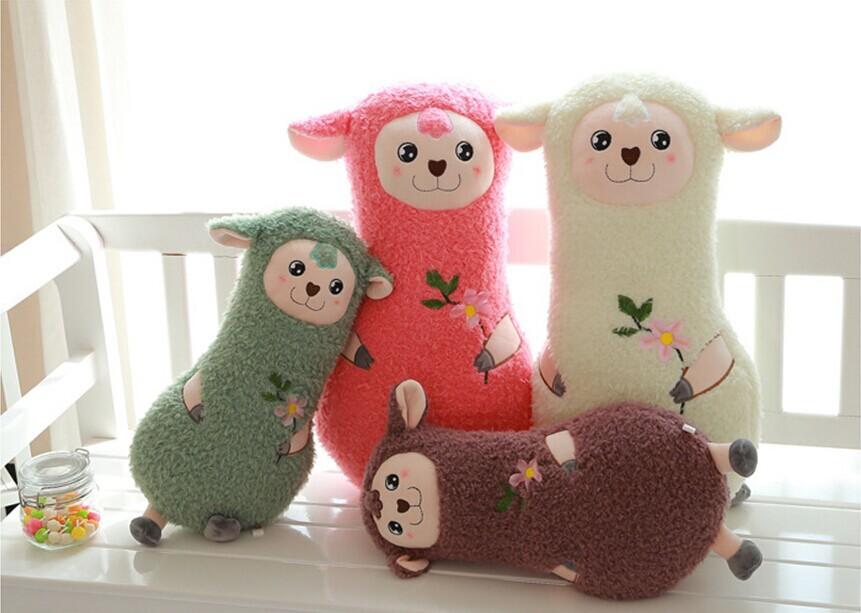 55cm Lovely Sheep Plush Toy Chinese Zodiac Wholesale Sheep Toys(China (Mainland))