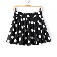 2014 summer sweet pleated skirt printing fashion skirt dot chiffon skirt buttock women's skirts  female fashion   NJS176
