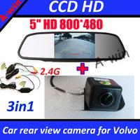 5inch car monitor mirror + car parking reverse camera for Volvo S80 S80L S40 S40L XC90 XC60 xc30 car rear view backup camera