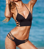 summer new 2014 sexy bikinis set Underwear solid swimsuit Women beachwear SML push up bikini swimwear brand vs bathing suit