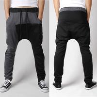 2014 new fashion mens harem pants drop crotch pants men baggy joggers sweatpants for man outdoors calca moletom masculina